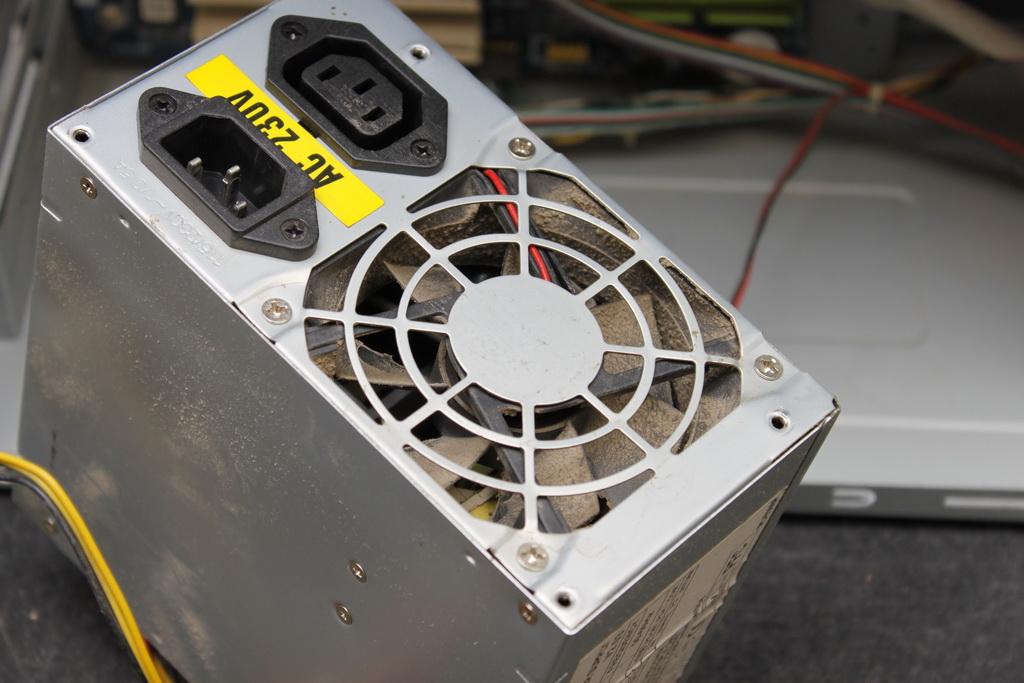 Пыль в вентиляторе.